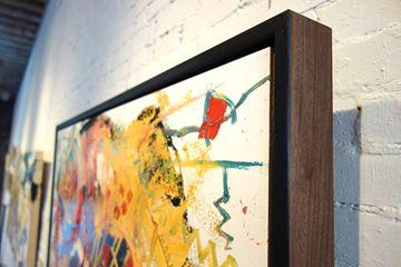 Chameleon painting framed