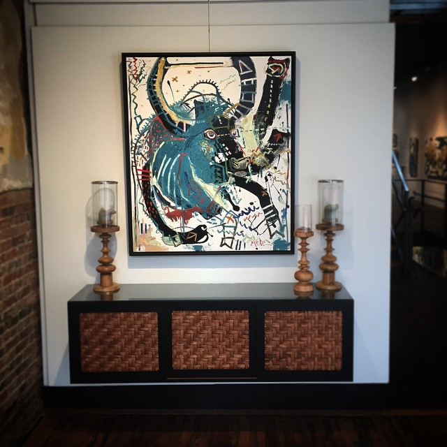 """Water buffalo"" above our @russellgale cabinet"