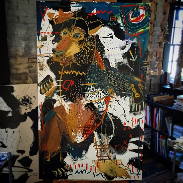 """Black Bear"" 66""x40"" : finished 2/5/15"
