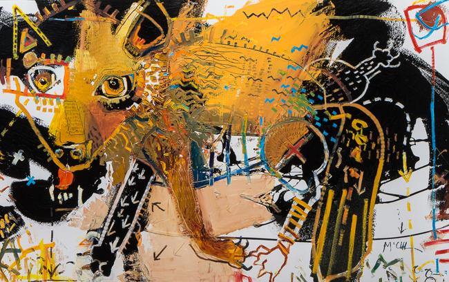 coyote Daniel mcclendon asheville fine artist