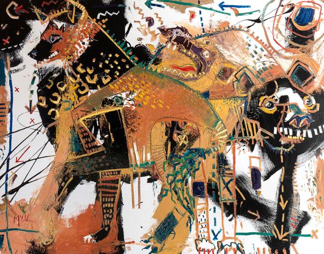 Hyenas Daniel McClendon Asheville artist