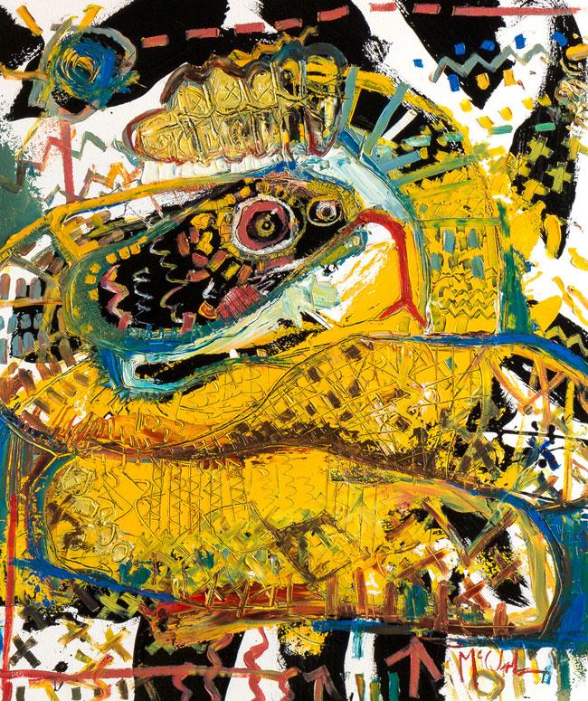 Rattlesnake Daniel McClendon Asheville artist