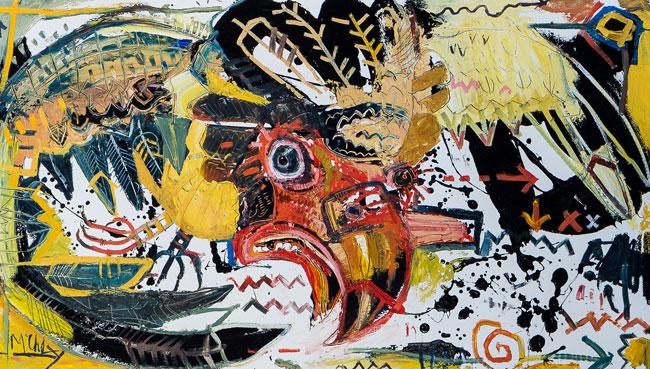 Bateleur Painting by Daniel mcclendon asheville artist