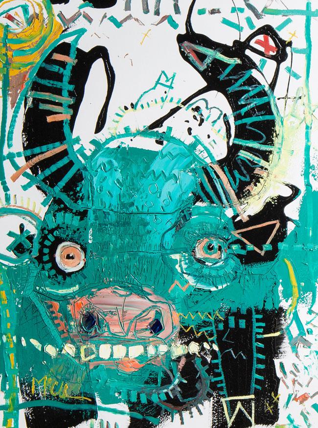 Bovine painting by daniel mcclendon asheville artist