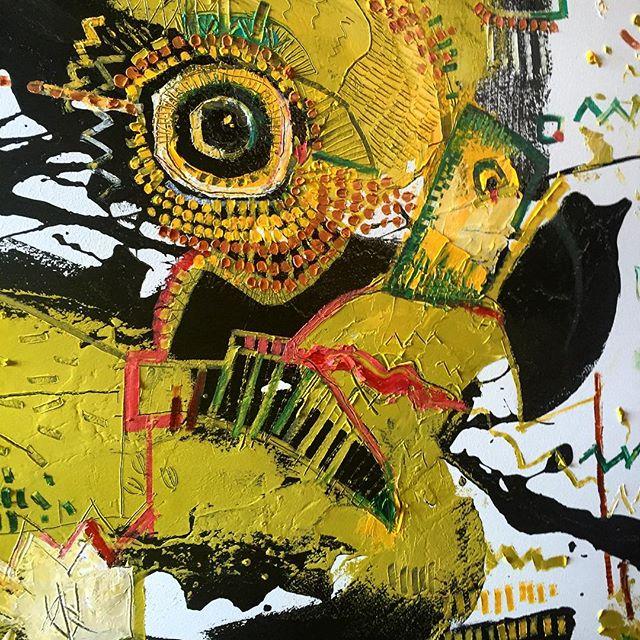 Green Hawk Painting