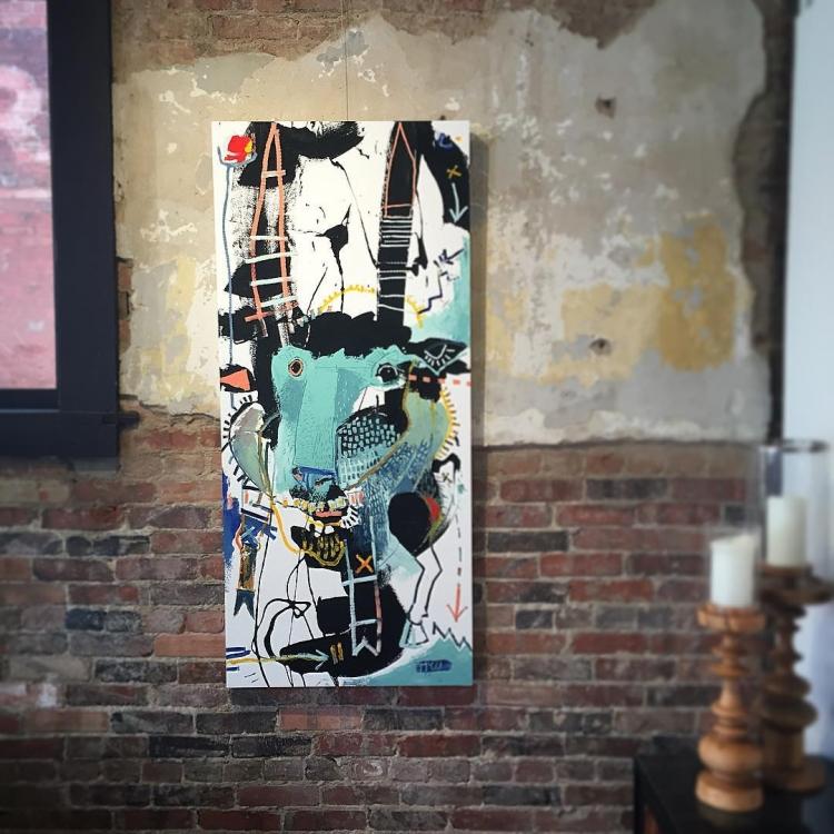 Gazelle II - 54x24 - love this piece