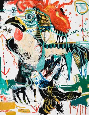 Rooster Contemporary art asheville Mcclendon