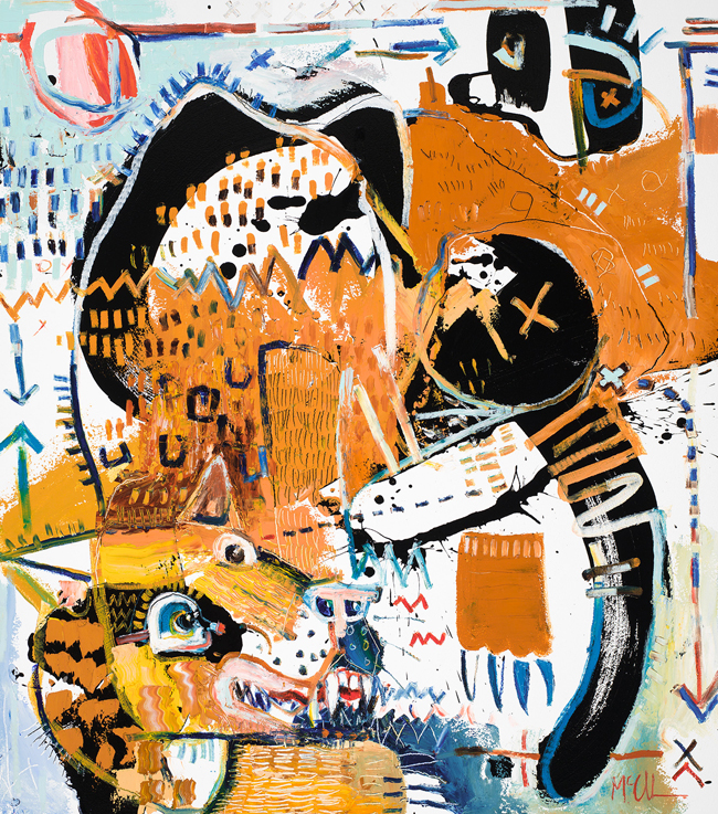 Panther Daniel McClendon Fine art asheville painter