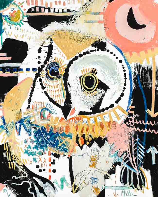 Barn Owl 2 Daniel McClendon Fine art asheville painter
