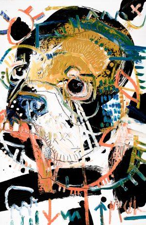 English Bulldog McClendon asheville fine art painter