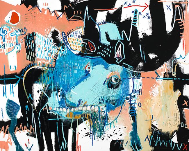 Moose II 2 Daniel MCClendon fine art asheville modern