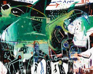 Rhinoceros Beetle McClendon Fine art asheville modern