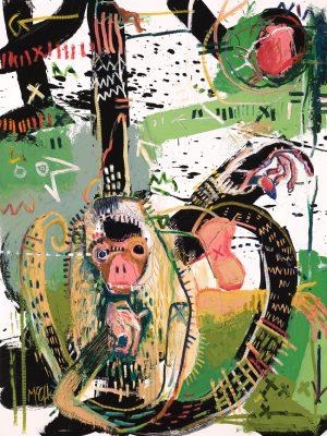 Spider Monkey mcclendon modern fine art asheville painting