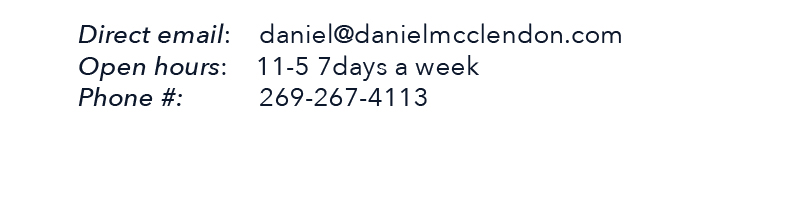 Daniel mcClendon fine art contact information number