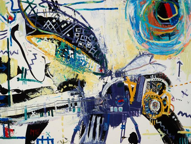 Dragonfly McClendon Fine Art Modern Fine Art Asheville Painting