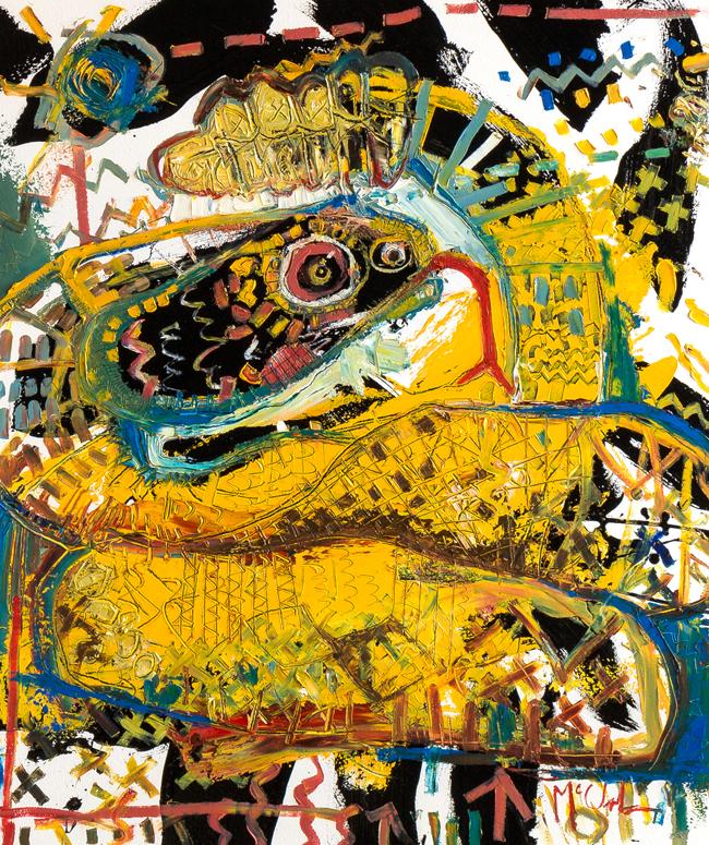 Rattlesnake McClendon Fine Art Modern Fine Art Asheville Painting
