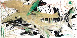 Tiger Shark McClendon Fine Art Modern Fine Art Asheville Painting
