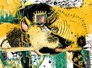 Hyena II McClendon Fine Art Modern Fine Art Asheville Painting