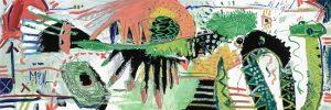 Bird and Serpent McClendon Fine Art Modern Fine Art Asheville Painting