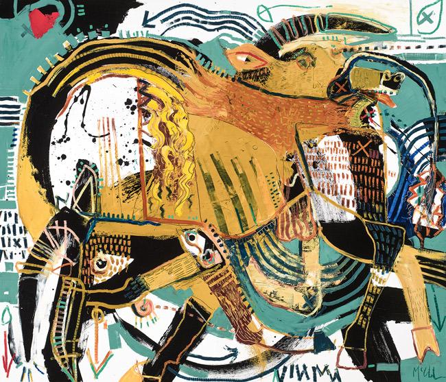 Bull VI 6 McClendon fine art asheville
