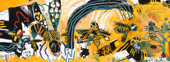 Honey Bees McClendon Fine Art Modern Fine Art Asheville Painting