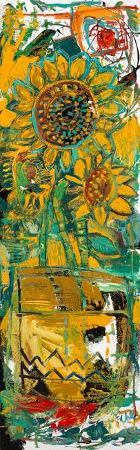 Three Flowers by Daniel McClendon Asheville
