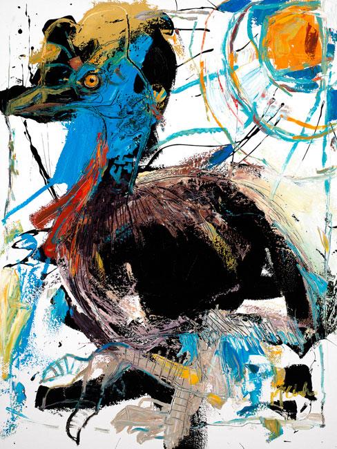 Cassowary Painting by Artist Daniel McClendon