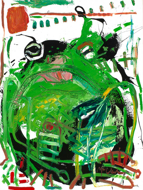 Frog painting by artist Daniel McClendon