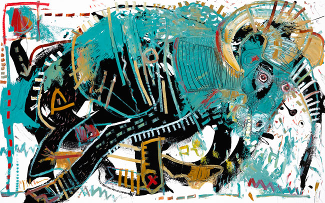 Ram III Painting by artist Daniel McClendon