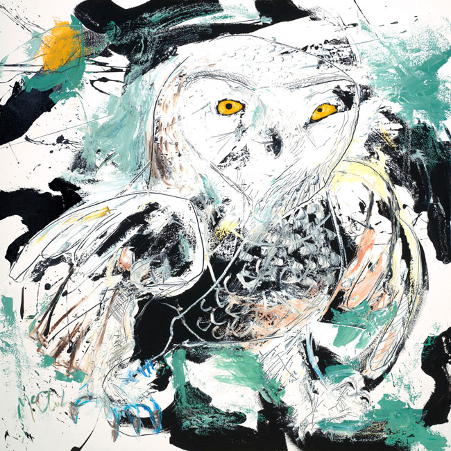 Snowy Owl Painting by artist Daniel McClendon