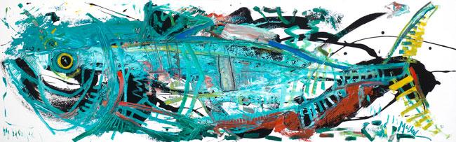 Tarpon Painting by Artist Daniel McClendon