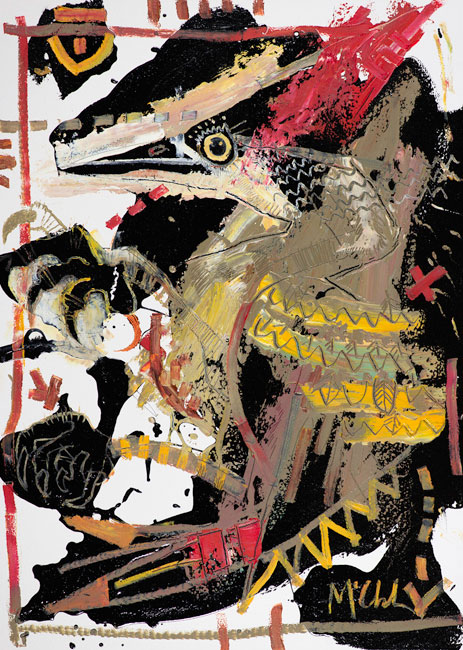 Woodpecker Painting by Daniel McClendon