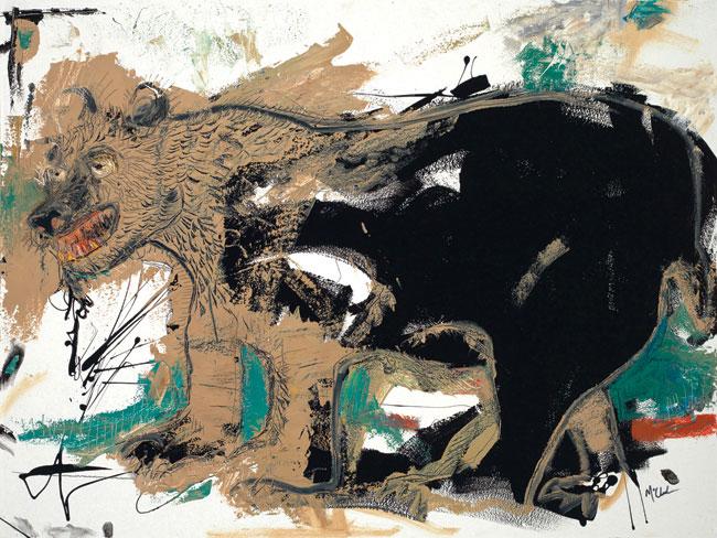 Bear Painting by Artist Daniel McClendon
