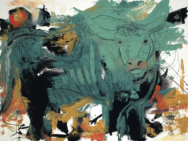 Bull Painting by Daniel McClendon