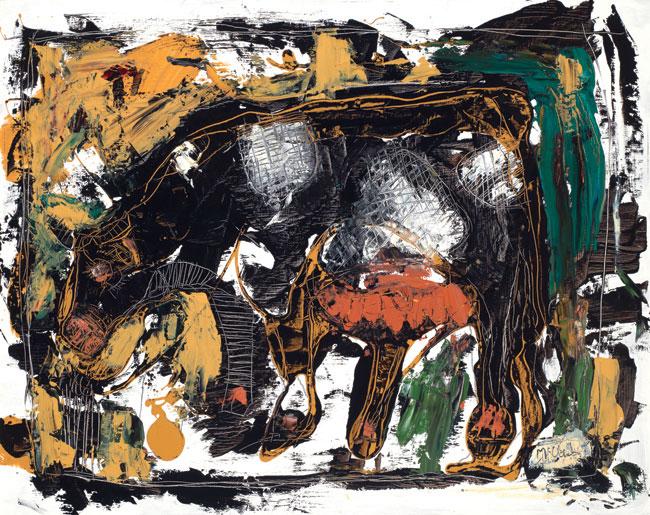Cow by Asheville Artist Daniel McClendon