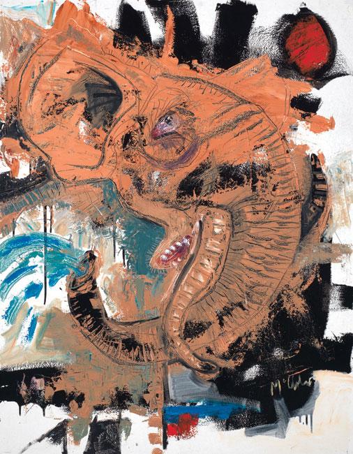 Elephant by artist Daniel McClendon Asheville