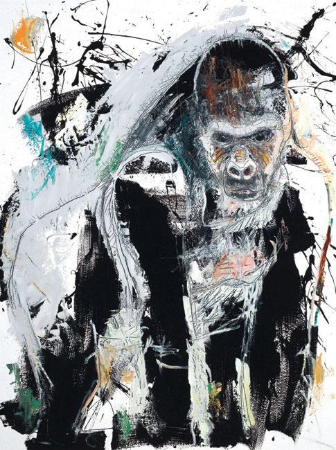 Gorilla by Asheville artist Daniel McClendon