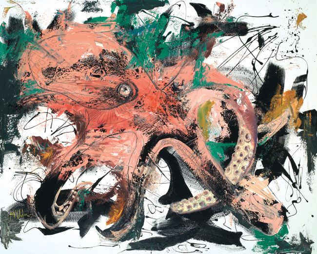 Octopus painting by Daniel McClendon