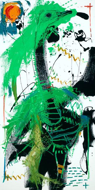 Ostrich by Asheville artist Daniel McClendon