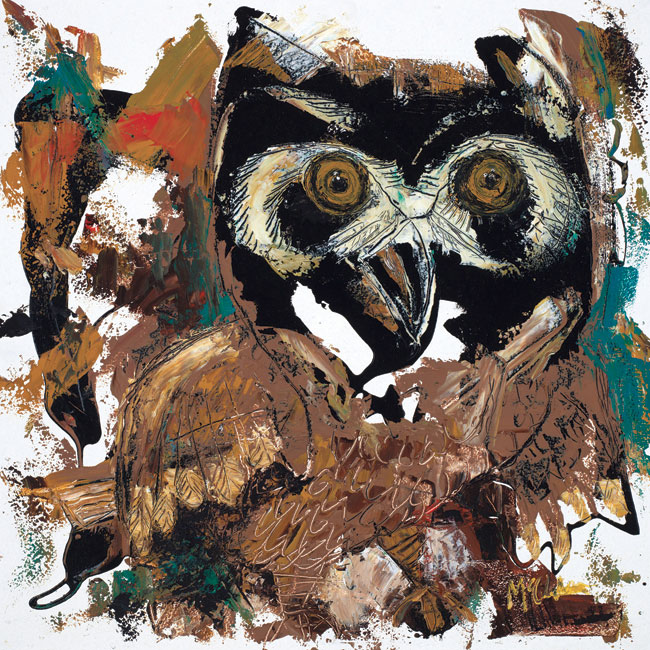Owl painting by Daniel McClendon