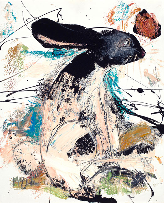 Rabbit painting by Daniel McClendon