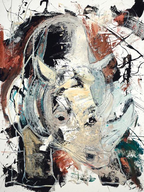 Rhino Painting by artist Daniel McClendon