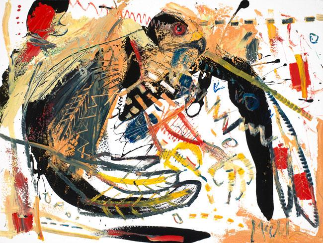 Sparrowhawk Painting by Daniel McClendon Asheville