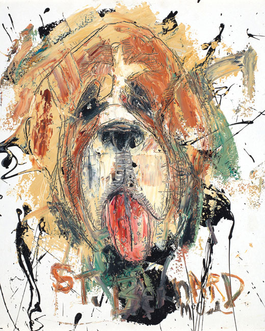 St. Bernard Painting by artist Daniel McClendon