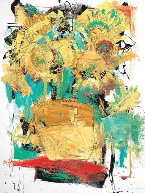Sunflowers Painting by Artist Daniel McClendon