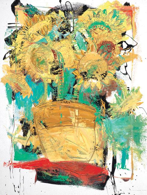 Sunflowers Painting by Artist Daniel McClendon