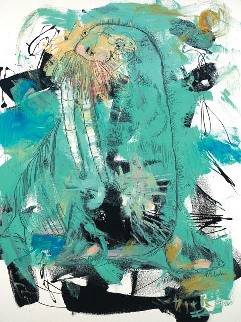 Walrus Painting by Artist Daniel McClendon