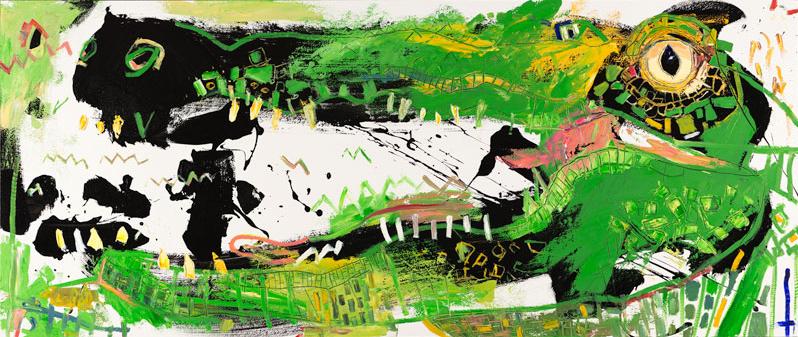 alligator daniel mcclendon asheville art