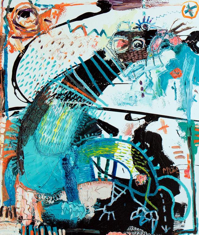 Weasel Painting by Daniel McClendon