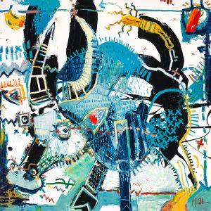 Water Buffalo III Daniel McClendon Asheville Fine art modern painting